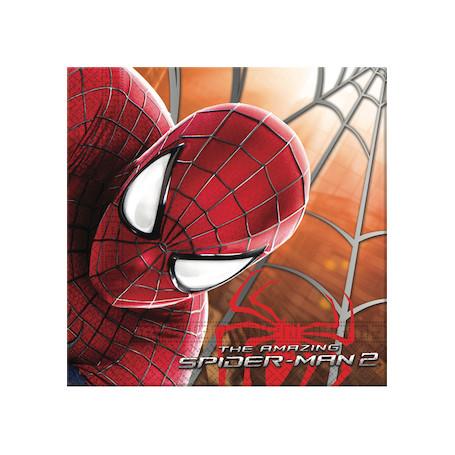 Servetter i papper med Spiderman tryckt på.