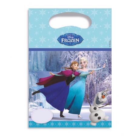 Kalaspåse i ljusblått med Anna och Elsa från filmen Frost (frozen)
